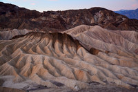 Looking southwest before sunrise from Zabriskie Point, Death Valley National Park