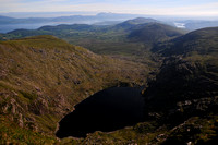 Coomeeneragh Lake from the summit of Meenteog, County Kerry