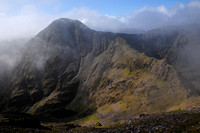 Carrauntoohil from the summit of Beenkeragh, MacGillycuddy's Reeks, County Kerry