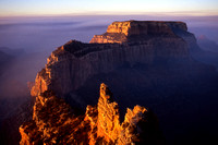 Wotan's Throne at sunrise from Cape Royal, North Rim