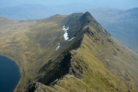 Looking down on Striding Edge from Helvellyn, Lake District National Park