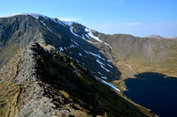 Helvellyn from Striding Edge, Lake District National Park