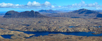 Suilven, Quinag, Canisp and Loch Veyatie from Cul Mor's northwest ridge