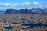 Suilven and Loch Veyatie from Cul Mor's northwest ridge