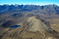 The Cuillin Ridge from Garbh-bheinn's north ridge, Isle of Skye