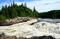 Hood Falls on the White River, Pukaskwa National Park