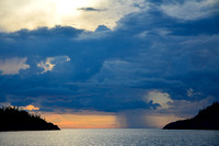 Sunset storm at Fisherman's Cove, Pukaskwa National Park