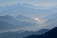 Sunrise over the foothills of the Himalaya, from Nagarkot
