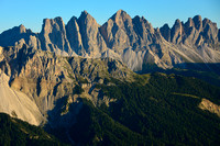 Sunset on the Odle from Rifugio Plose