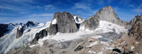 Bugaboos panorama from the summit of Eastpost Spire