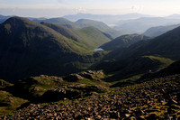 Looking north from Scafell Pike. Lake District National Park