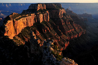 Wotan's Throne at sunset from Cape Royal, North Rim