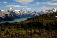 Maligne Lake from the Bald Hills