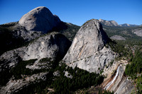 Half Dome, Liberty Cap and Nevada Fall, Yosemite National Park