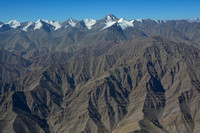 Stok Kangri, seen during the flight over the Himalaya from Delhi to Leh