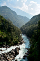 The confluence of the Ghunsa Khola and the Tamor River