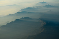 Late afternoon arial view of western Nepal