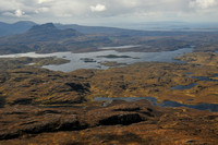 Stac Pollaidh and Loch Sionascaig from Suilven