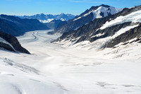 Looking down the Jungfraufirn towards the Konkordiaplatz from the Jungfraujoch