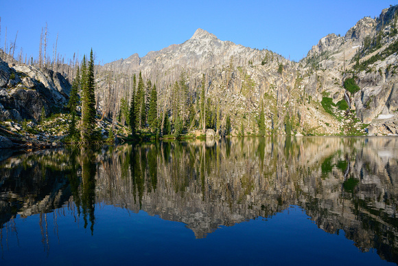 Looking east from the Trail Creek Lakes, Sawtooth Wilderness