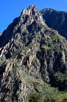 The mountains on the north side of the Rio Urubamba shortly after the start of the Inca Trail