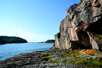 Looking west from Namesake Cave, Pukaskwa National Park
