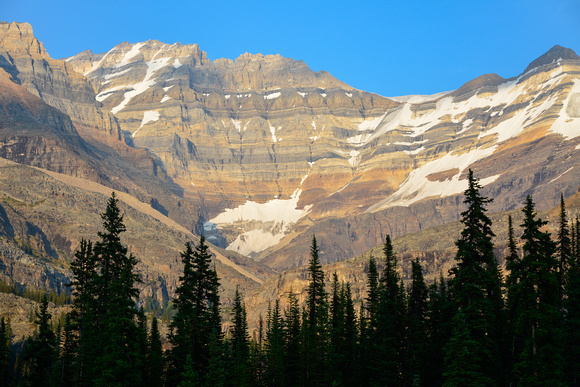 Sunset on Mount Lefroy from Lake O'Hara