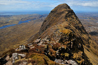 Suilven's summit from the east ridge