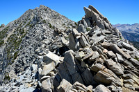 Approaching the summit of Goat Mountain on its south ridge, Sierra High Route