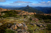 Barn Bluff from the summit of Cradle Mountain, Cradle Mountain-Lake St. Clair National Park