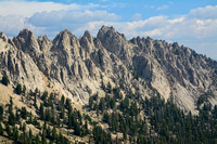 The view from the Iron Creek Trail below Sawtooth Lake, Sawtooth Wilderness