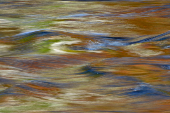 Autumn reflections on the Oxtongue River rapids